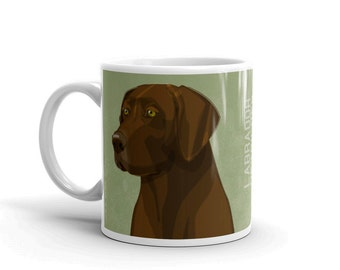 Gifts for Pets, Gifts for Men, Dog Coffee Mug, Husband Gift, Chocolate Labrador Retriever Mug, Dog Mug, Dog Gift, for Dog Lover Gift for Him