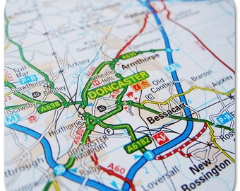 Doncaster Map Coasters