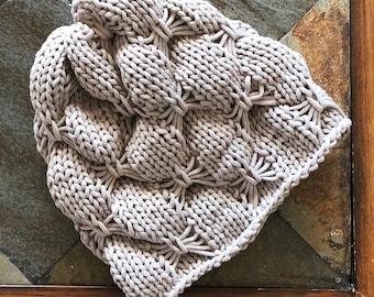 The Bows Art Beanie Knitting Pattern / Hat Knitting Pattern PDF / Instant Download / Hat Knitting Pattern
