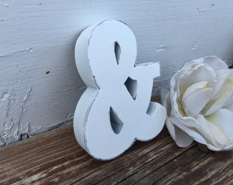 Shabby Chic Letter Wall Decor, Monogram, Ampersand, Cake Topper, PiCK yoUR lETTer and ColOR