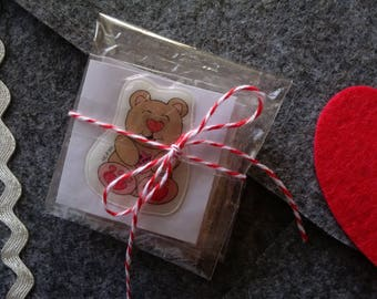 Valentine Favors 12, Classroom Favors, Set of 12 valentine favors