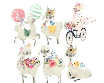 llama diecuts - weheartconfetti