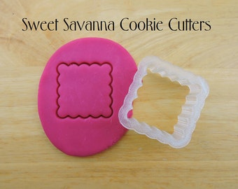 Scalloped Square Cookie Cutters- Different Sizes Available