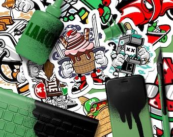 100 Promotional Stickers | Marketing Stickers, Full Color Stickers, Skateboard Stickers, Outdoor Stickers, Sticker Bomb, Custom Stickers
