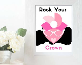 Rock Your Crown Lady Wall Art