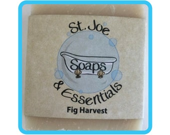 Fig Harvest Soap, Handmade Soap, All Natural Soap, Organic Saponified Olive Oil, Coconut Oil, Shea Butter, Fragrance Oil