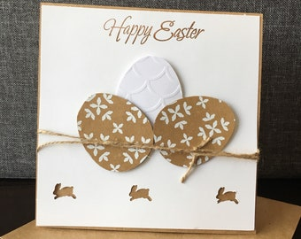Happy Easter card, Happy Easter ,egg,rabbit ,handmade ,