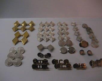 Lot of 39 vintage ROTC pins and rank bars