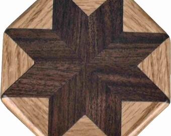 Walnut-Oak Pattern Weight