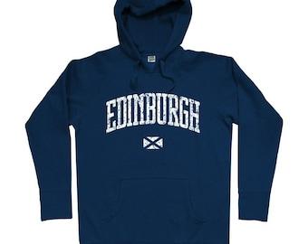 Edinburgh Hoodie - Men S M L XL 2x 3x - Edinburgh Scotland Hoody Sweatshirt - Scottish - 4 Colors