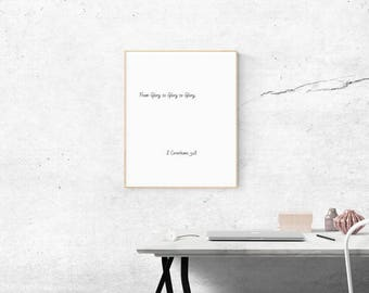 DIGITAL DOWNLOAD From Glory to Glory to Glory Bible Verse Scripture 4:3 printable art