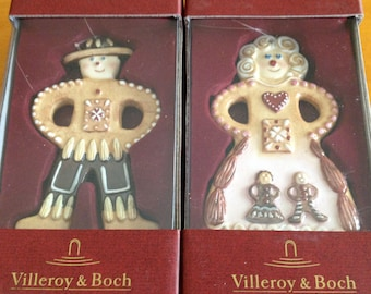 Set of Two Viceroy and Boch Ginger Ornaments NWTGingerbread Man and Woman