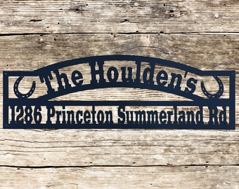 Personalized Horseshoes Address Sign (Q22)