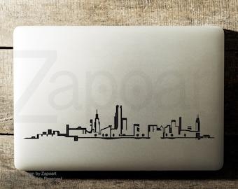 Chicago Skyline Sticker Decal Laptop Decal iPad