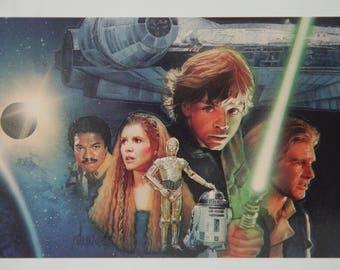 """Star Wars Postcard of """"Sheild of Lies"""" by Drew Struzan"""
