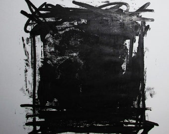 "Abstract Minimal  No.0859 Acrylic on Paper 24x18"" Original Modern Art Industrial"