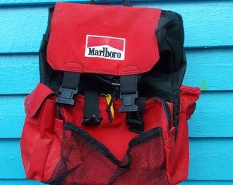 Marlboro Back  Pack, Marlboro Knapsack, Hiking Pack Day Pack,Wanders Pack,Marlboro Brand
