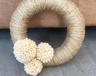 Pom Pom Twine Ring/Wreath