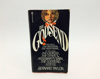 Vintage Horror Book The Godsend by Bernard Taylor 1977 Movie Tie-In Edition Paperback