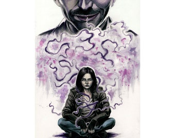"Jessica Jones inspired ""JESSICA"" art print reproduction 11x17"""