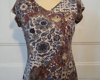 Blue and Brown Kaylee Frye Sz Small Top - Ready to Ship