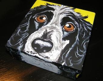 Custom Pet Portrait Painting 6x6