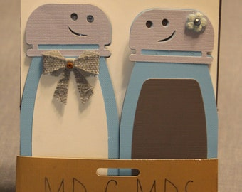 Mr and Mrs Salt and Pepper Card