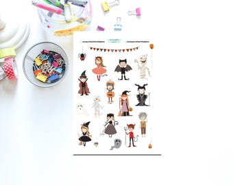 Cute Halloween Decoration Sheet Stickers for Planners, Penpal and Journalling