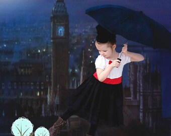 Mary Poppins Costume Dress, School Play,  Pretend, Dress-up, Photo Shoot, Birthday Party, Recita, Disney Vacation
