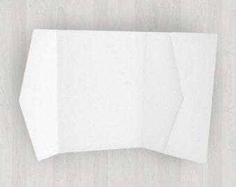 10 Horizontal Pocket Enclosures - White - DIY Invitations - Invitation Enclosures for Weddings & Other Events