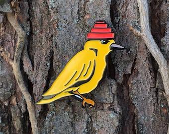 DEVO Bird Enamel Pin- Are We Not Birds?