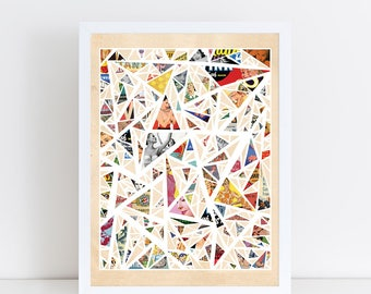 Chaotic Dreams - Colorful Vintage Fine Art Collage - Wall Art Home Decor