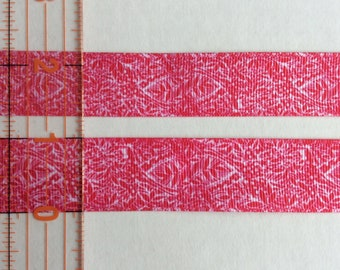 "Lilly Pulitzer inspired floral fern bright pink pattern  grosgrain ribbon 7/8"",1"""