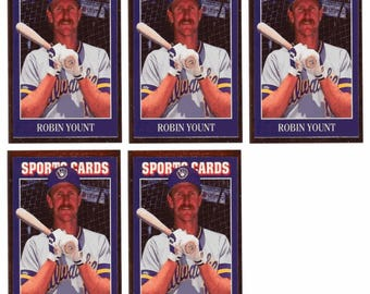 5 - 1992 Sports Cards #30 Robin Yount Baseball Card Lot Milwaukee Brewers