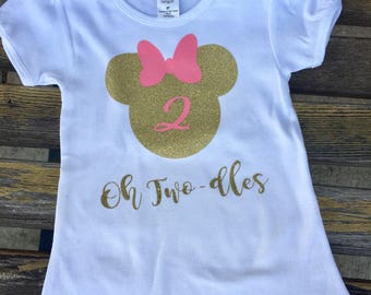 Oh Two-dles Shirt - Minnie Mouse Birthday Shirt