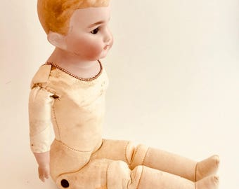 Effanbee Boy Doll in Victorian Outfit - Leather, Cloth, Composition - Collectible Doll - Collector's Toy