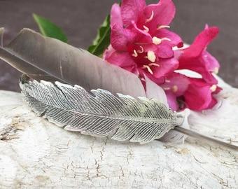 Wild and Free FEATHER Sterling Silver Cuff Bracelet, rustic, artisan, metalwork, handmade, Boho, Bohemian, Gypsy