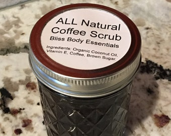 All Natural Detox Coffee Body Scrub-8oz- (No Preservatives)