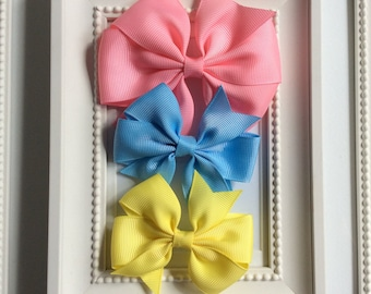 Set of Three Hair clips for Blythe .PINK/BLUE /YELLOW.