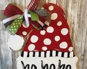 Santa hat door hanger, Sa...