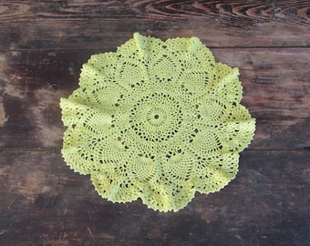 Yellow Doily 15 inch