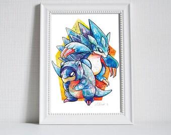 Pokemon Print - Alolan Sandshrew and Sandslash Variants