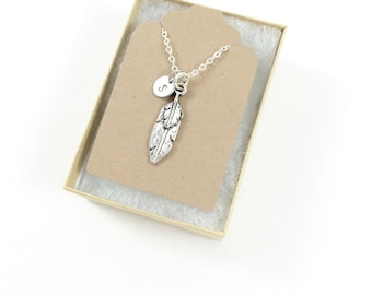 Bereavement Necklace Silver Feather Necklace Feather Pendant Necklace Feather Jewelry Memorial Jewelry Sympathy Gift Grief Loss of Loved One