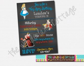 Disney Alice in Wonderland Invitation