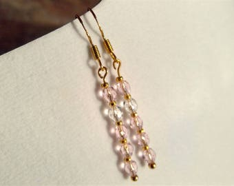 22k Gold earrings with rosé crystals