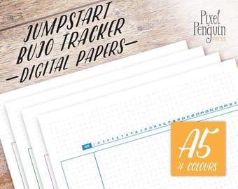 Bullet Journal Habit Tracker Printable, A5 Habit Tracker Template, Bullet Journal Goals, A5 Planner Insert Printable, Planner Template