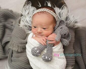crochet elephant, newborn photo prop, crochet baby toy, stuffed animal, stuffed elephant, elephant baby shower, baby room decor, nursery