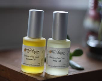 Set of Shea and Jojoba Henna Aftercare Oils