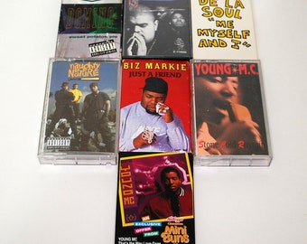 Cassette Tape Lot 7 Rap Domino De La Soul Young MC Biz Markie Naughty By Nature