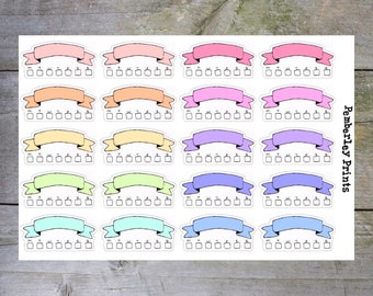 Habit Trackers // 20 Pastel Weekly Habit Tracker Planner Stickers Perfect for Planning // LF16